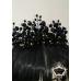 Дизайнерска тиара черни кристали и златно Black Roses by Rosie Concept