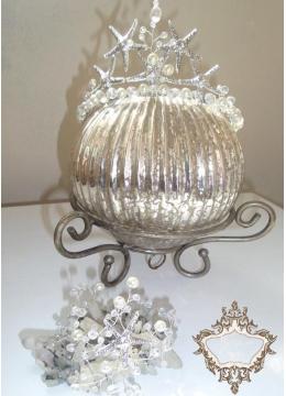 Дизайнерски комплект Корона и гривна с морски звезди и кристали серия Sea Queen