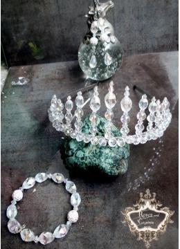 Дизайнерски комплект тиара, гривна и обици серия Queen of Atlantis by Rosie Concept