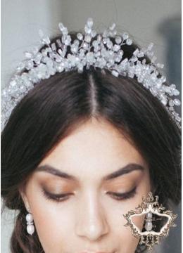 Тиара за булка с кристали Сваровски Queen of Angels by Rosie Concept