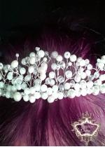 Разкошна Булчинска корона с перли и кристали White Dream