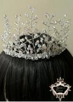 Изящна ръчно изработена булчинска корона от Кристали Angel Touch by Rosie