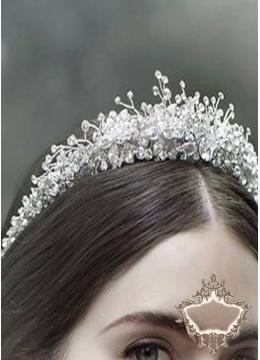 Елегантна дизайнерска сватбена тиара Frost Queen