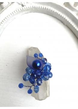 Дизайнерски пръстен в синьо с кристали Сваровски A Little Piece Of Heaven by Rosie