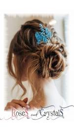 Дизайнерски фуркети и фиби за коса с перли и кристали