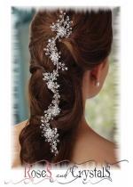 Комплекти украси за дълга коса и бижута с кристали и перли