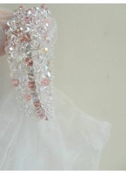 Комплект булчински воал Annie с дизайнерска диадема Rose Kiss
